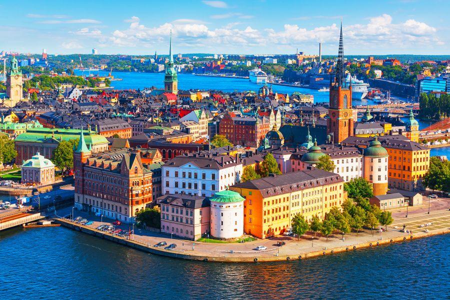 Letenky do letního Švédska. Stockholm od 1000 Kč s odletem z Prahy