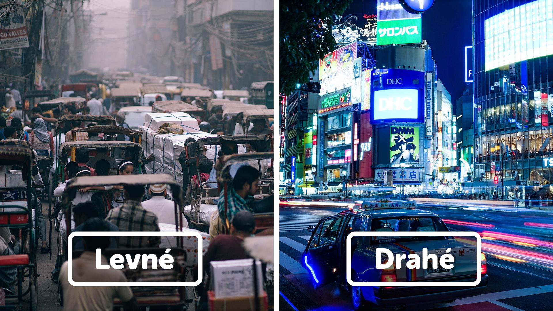 10 nejlevnější a nejdražších zemí světa na cestování