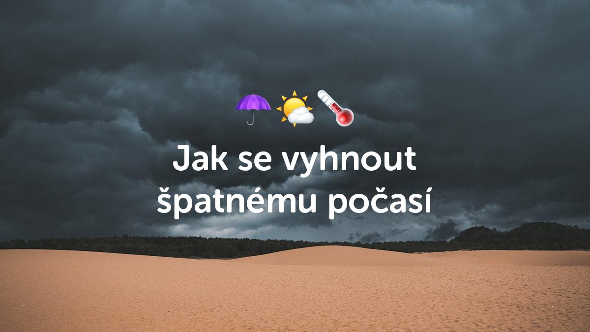 3 tipy, jak se vyhnout špatnému počasí na cestách